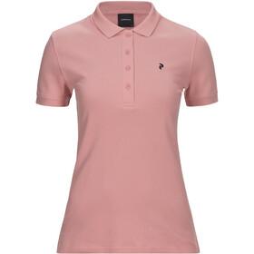 Peak Performance Classic Pique Shirt Women warm blush